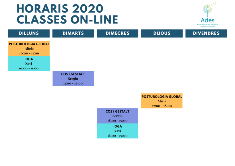 Horaris 2020 online